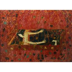 著名漆畫家藍麗娜漆畫《玫瑰色的抒情曲》(se77269397)_7788舊貨商城__七七八八商品交易平臺(7788.com)