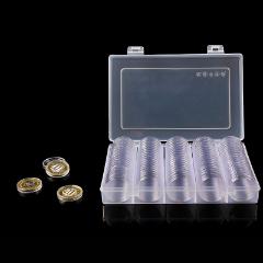 紀念幣收藏收納盒保護盒通用透明圓盒生肖鼠年武夷山紀念幣盒100枚,27mm直徑(se77366351)_7788舊貨商城__七七八八商品交易平臺(7788.com)