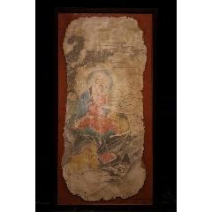 羅漢墻皮畫,又稱壁畫,畫像整體摳存,老畫后婊框,尺寸124.5cm×64cm(se77369877)_7788舊貨商城__七七八八商品交易平臺(7788.com)