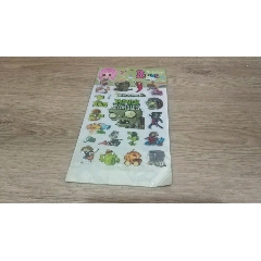 植物大戰僵尸立體貼紙-¥1 元_貼紙_7788網