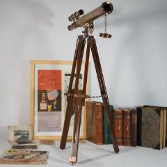 復古懷舊老式印度黃銅望遠鏡帶木三腳架高65厘米鏡筒45cm擺件道具(se77425247)_7788舊貨商城__七七八八商品交易平臺(7788.com)