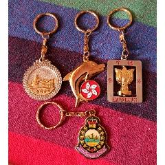 香港紀念品鑰匙扣(部分圖案鍍金)4個合售(se77431346)_7788舊貨商城__七七八八商品交易平臺(7788.com)