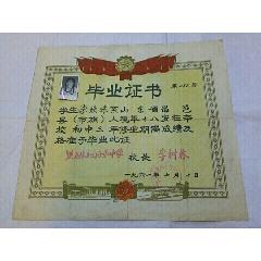 1961年鐵力林業局子弟中學~畢業證書(se77431653)_7788舊貨商城__七七八八商品交易平臺(7788.com)