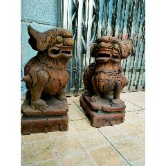 清代木雕獅子一對(se77454083)_7788舊貨商城__七七八八商品交易平臺(7788.com)