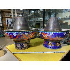 景泰藍火鍋2個合售-每個11斤(se77500135)_7788舊貨商城__七七八八商品交易平臺(7788.com)