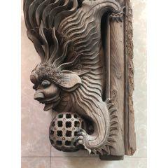 清代東陽木雕牛腿一只獅子戲球整體品如圖尺寸高55寬37厚10(se77662725)_7788舊貨商城__七七八八商品交易平臺(7788.com)
