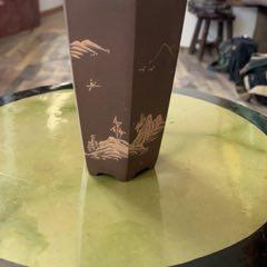 紫砂花盆約11cm(se77735111)_7788舊貨商城__七七八八商品交易平臺(7788.com)