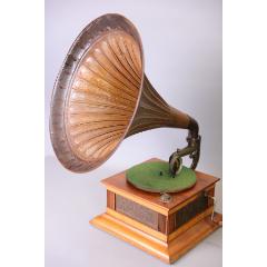 上世紀初德國Symphonista古董機械手搖留聲機浮雕裝飾(se77784039)_7788舊貨商城__七七八八商品交易平臺(7788.com)