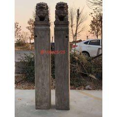 青石栓馬樁一對,風化自然,完好無損,雙獅霸氣,難得佳品。190/25/25。(se78045823)_7788舊貨商城__七七八八商品交易平臺(7788.com)