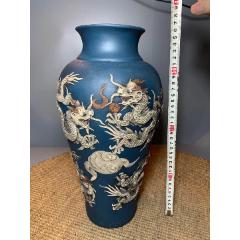 紫砂浮雕九龍戲珠紋瓶(se78047347)_7788舊貨商城__七七八八商品交易平臺(7788.com)