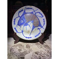 清朝(青花釉里紅魚盤)魚盤(se78066183)_7788舊貨商城__七七八八商品交易平臺(7788.com)