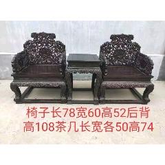 血檀木寶座椅一套,通體滿工雕刻,做工精致,用料厚重大氣上檔次。(se78092345)_7788舊貨商城__七七八八商品交易平臺(7788.com)