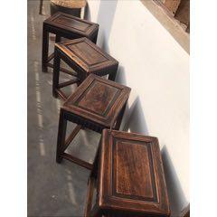 清代櫸木方凳4個一套。做工精致,細膩優雅,難得一見。(se78118447)_7788舊貨商城__七七八八商品交易平臺(7788.com)
