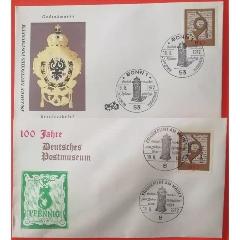 聯邦德國郵票西德1972郵政博物館100周年號角首日封2枚(se78118729)_7788舊貨商城__七七八八商品交易平臺(7788.com)