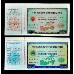 寧波中元機械股份公司實物股票(兩枚/套)上市公司實用票。(se78118957)_7788舊貨商城__七七八八商品交易平臺(7788.com)
