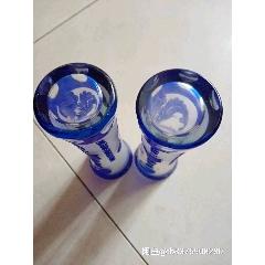 文革手工刻工藍玻璃花瓶一對(se78119240)_7788舊貨商城__七七八八商品交易平臺(7788.com)