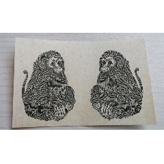 猴票雕刻版印樣雙猴一張(se78169221)_7788舊貨商城__七七八八商品交易平臺(7788.com)