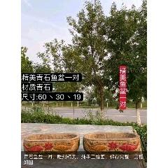 青石魚盆一對,雕刻精美,純手工繪畫,保存完整,品相如圖(se78206809)_7788舊貨商城__七七八八商品交易平臺(7788.com)