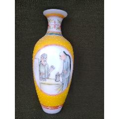 老琉璃手繪彩花瓶(se78212437)_7788舊貨商城__七七八八商品交易平臺(7788.com)