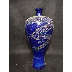 藍釉龍紋梅瓶(se78220532)_7788舊貨商城__七七八八商品交易平臺(7788.com)
