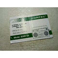 CONTEC收音機說明書(se78223125)_7788舊貨商城__七七八八商品交易平臺(7788.com)