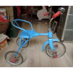 懷舊收藏2102-70年代經典上海產紅花牌兒童玩具三輪車-藍色的少見(se78223934)_7788舊貨商城__七七八八商品交易平臺(7788.com)