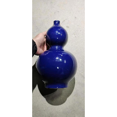 W560七十年藍釉葫蘆瓶(高32厘米)(se78224938)_7788舊貨商城__七七八八商品交易平臺(7788.com)