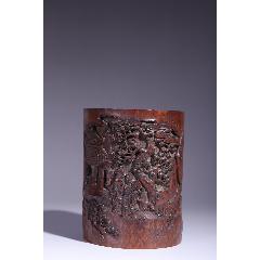 異形竹雕筆筒。尺寸:12.8×9.2×16cm(se78232103)_7788舊貨商城__七七八八商品交易平臺(7788.com)