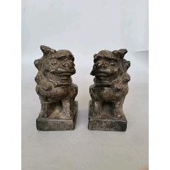 清代石雕青石獅子一對(se78232363)_7788舊貨商城__七七八八商品交易平臺(7788.com)