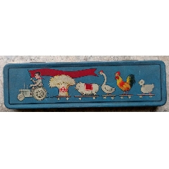 五十年代,上海偉成制罐廠出品豐收鉛筆盒(se78237419)_7788舊貨商城__七七八八商品交易平臺(7788.com)
