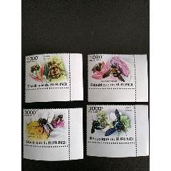 2011年布隆迪花卉蜜蜂,佛吉尼亞木犀和石竹及蜜蜂帶角邊紙郵票4全新原膠(se78240830)_7788舊貨商城__七七八八商品交易平臺(7788.com)