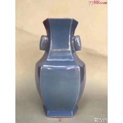 清代天蘭釉六方瓶(se78243521)_7788舊貨商城__七七八八商品交易平臺(7788.com)