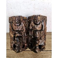清代木雕和合雕件一對(zc25486392)_7788舊貨商城__七七八八商品交易平臺(7788.com)