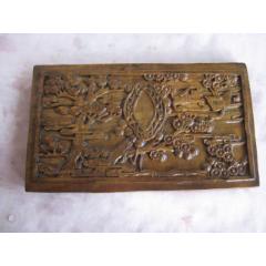 一塊雕刻松柏仙鶴圖案的木印版(se78250936)_7788舊貨商城__七七八八商品交易平臺(7788.com)