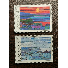風光和藝術~1987丹麥法羅群島風景繪畫作品2全新(se78258697)_7788舊貨商城__七七八八商品交易平臺(7788.com)
