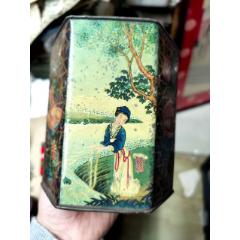 民國上海德隆餅干飛馬牌杏仁餅干鐵盒(se78263332)_7788舊貨商城__七七八八商品交易平臺(7788.com)