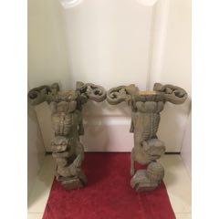 一對雕工精細的清代獅子木雕牛腿(se78397745)_7788舊貨商城__七七八八商品交易平臺(7788.com)