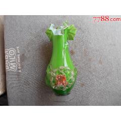早期【六、七十】年代綠色【花卉立體造型】玻璃花瓶(se78615530)_7788舊貨商城__七七八八商品交易平臺(7788.com)
