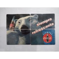 秘魯IC卡,可口可樂,北極熊,拼圖,4全(se78737884)_7788舊貨商城__七七八八商品交易平臺(7788.com)