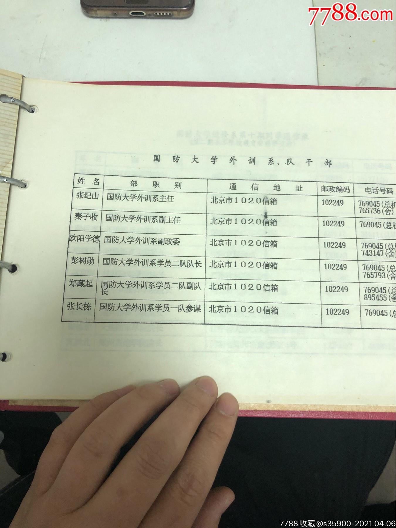國防大學第十期進修同學錄,全是將軍_價格550元_第7張_7788收藏__收藏熱線