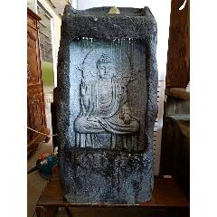 如來佛流水大佛龕擺件,雕刻精美細膩,栩栩如生,開臉慈祥,水循環流動,寓意福水連綿