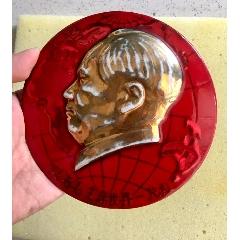 13厘米德化瓷章~跟著毛主席世界一片紅
