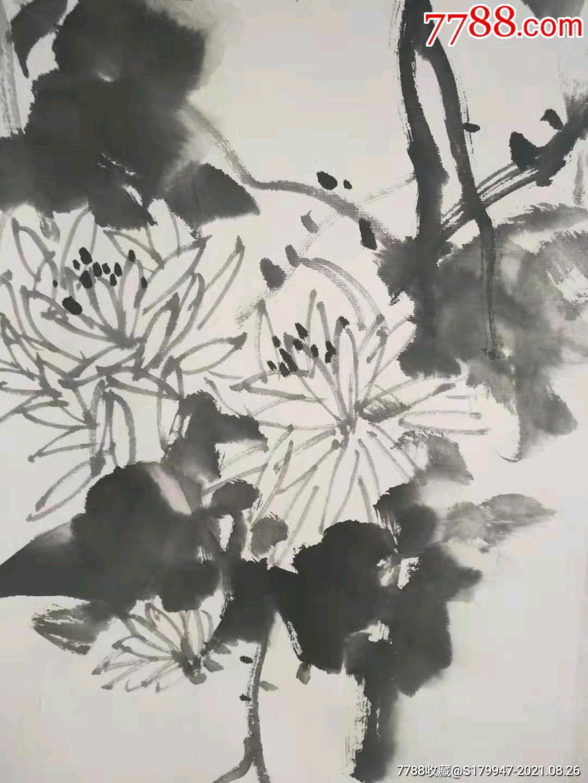 成都畫家李久貴作品~墨菊_價格400元_第4張_7788收藏__收藏熱線