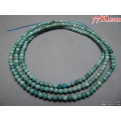清代高瓷高藍松石米珠鏈一件(se82274719)_7788收藏__收藏熱線