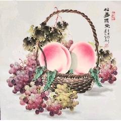 李正宗老師四尺斗方壽桃(se82313421)_7788收藏__收藏熱線