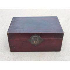 民国时期牛皮书箱,铜件齐全,包老到代。