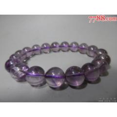 清代蒙古族葡萄紫水晶珠手鏈一件