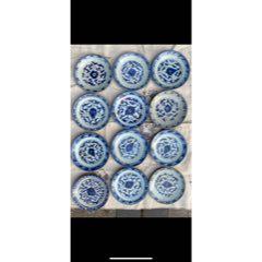 清朝青花盤(標本出)嘉慶道光等等(se82555673)_7788收藏__收藏熱線