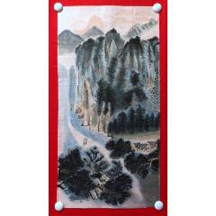 書畫14511,【楊炯】山水畫,尺寸約為66*33厘米-¥35 元_山水國畫原作_7788網