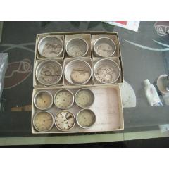 瑞士古董表怀表配件以及零件共12件